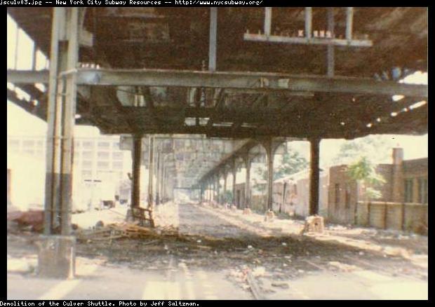 (52k, 620x438)<br><b>Country:</b> United States<br><b>City:</b> New York<br><b>System:</b> New York City Transit<br><b>Line:</b> BMT Culver Line<br><b>Location:</b> Culver Shuttle-Demolition<br><b>Photo by:</b> Jeff Saltzman<br><b>Viewed (this week/total):</b> 7 / 5171