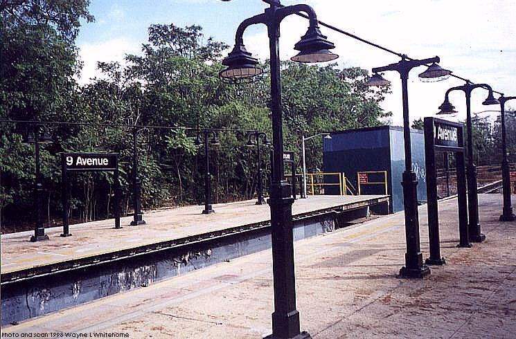 (113k, 745x490)<br><b>Country:</b> United States<br><b>City:</b> New York<br><b>System:</b> New York City Transit<br><b>Line:</b> BMT West End Line<br><b>Location:</b> 9th Avenue <br><b>Photo by:</b> Wayne Whitehorne<br><b>Date:</b> 9/19/1998<br><b>Notes:</b> 9th Avenue BMT station<br><b>Viewed (this week/total):</b> 0 / 2208