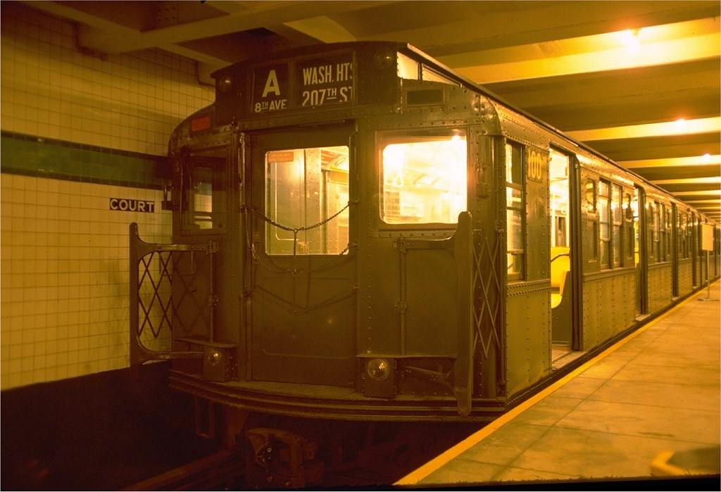 (164k, 1024x699)<br><b>Country:</b> United States<br><b>City:</b> New York<br><b>System:</b> New York City Transit<br><b>Location:</b> New York Transit Museum<br><b>Car:</b> R-1 (American Car & Foundry, 1930-1931) 100 <br><b>Photo by:</b> Joe Testagrose<br><b>Date:</b> 7/31/1976<br><b>Viewed (this week/total):</b> 4 / 9477
