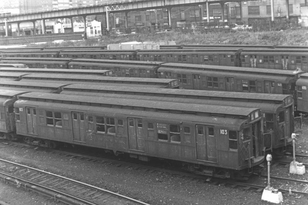 (249k, 1024x683)<br><b>Country:</b> United States<br><b>City:</b> New York<br><b>System:</b> New York City Transit<br><b>Location:</b> Concourse Yard<br><b>Car:</b> R-1 (American Car & Foundry, 1930-1931) 103 <br><b>Collection of:</b> David Pirmann<br><b>Viewed (this week/total):</b> 0 / 3546
