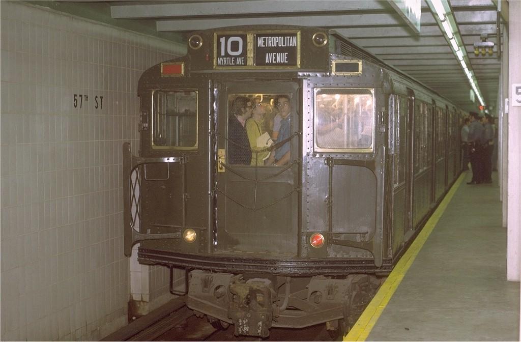 (161k, 1024x672)<br><b>Country:</b> United States<br><b>City:</b> New York<br><b>System:</b> New York City Transit<br><b>Line:</b> IND 6th Avenue Line<br><b>Location:</b> 57th Street<br><b>Route:</b> Fan Trip<br><b>Car:</b> R-1 (American Car & Foundry, 1930-1931) 103 <br><b>Photo by:</b> Joe Testagrose<br><b>Date:</b> 10/30/1971<br><b>Viewed (this week/total):</b> 0 / 4921
