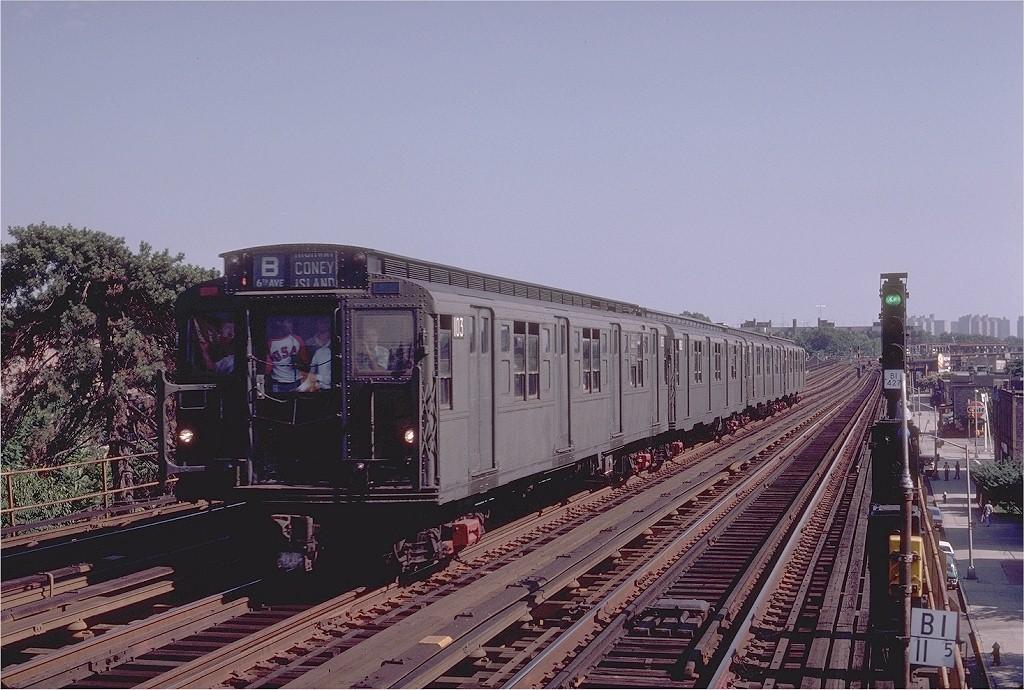 (214k, 1024x690)<br><b>Country:</b> United States<br><b>City:</b> New York<br><b>System:</b> New York City Transit<br><b>Line:</b> BMT Culver Line<br><b>Location:</b> Avenue P <br><b>Route:</b> Fan Trip<br><b>Car:</b> R-1 (American Car & Foundry, 1930-1931) 103 <br><b>Photo by:</b> Joe Testagrose<br><b>Date:</b> 7/4/1980<br><b>Viewed (this week/total):</b> 1 / 3687