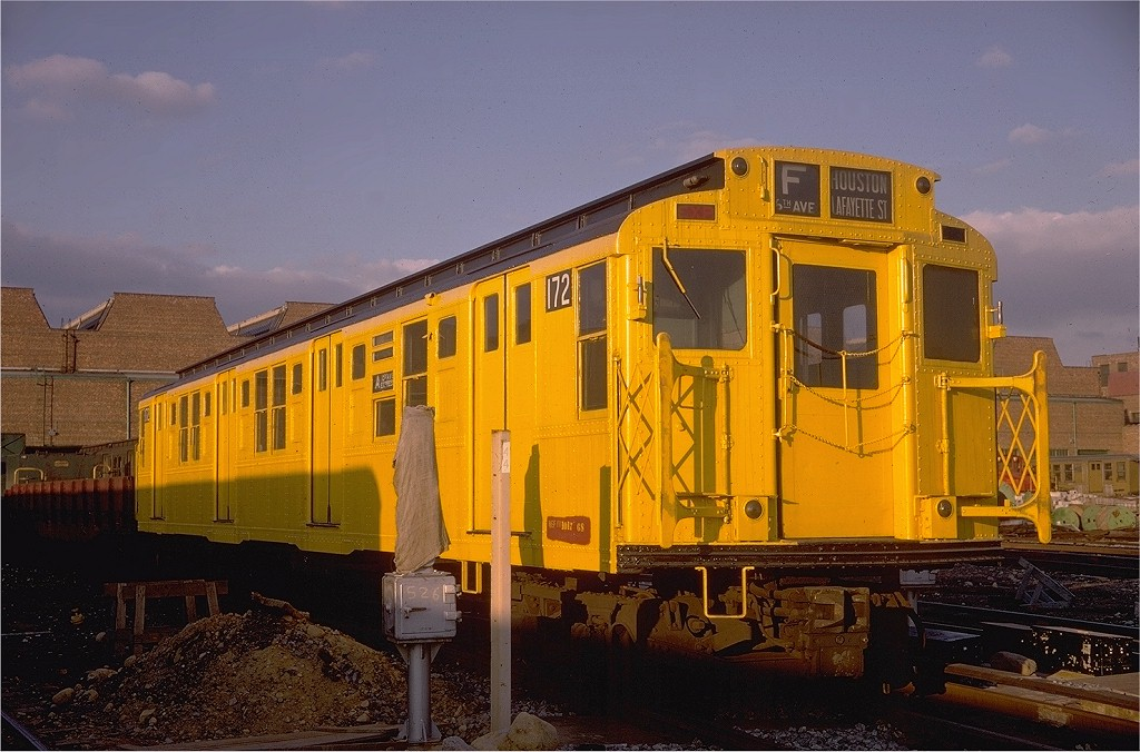 (196k, 1024x676)<br><b>Country:</b> United States<br><b>City:</b> New York<br><b>System:</b> New York City Transit<br><b>Location:</b> Coney Island Yard<br><b>Car:</b> R-1 (American Car & Foundry, 1930-1931) 172 <br><b>Photo by:</b> Doug Grotjahn<br><b>Collection of:</b> Joe Testagrose<br><b>Date:</b> 1/12/1969<br><b>Viewed (this week/total):</b> 0 / 7583