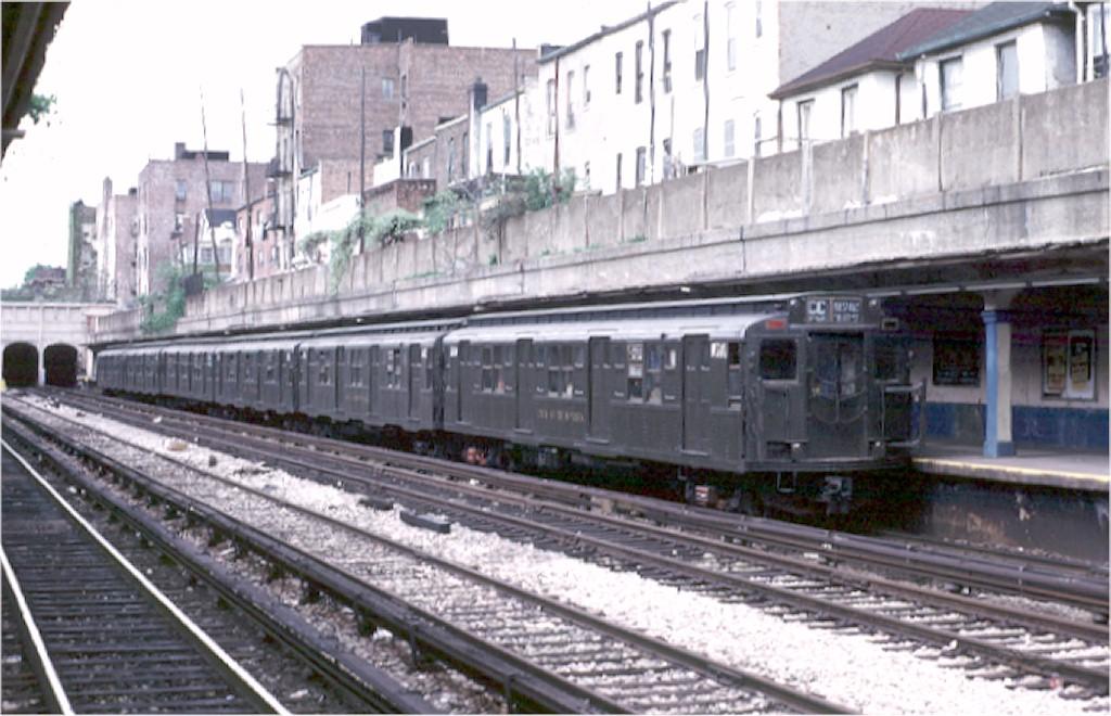 (177k, 1024x660)<br><b>Country:</b> United States<br><b>City:</b> New York<br><b>System:</b> New York City Transit<br><b>Line:</b> BMT Sea Beach Line<br><b>Location:</b> Bay Parkway (22nd Avenue) <br><b>Route:</b> Fan Trip<br><b>Car:</b> R-1 (American Car & Foundry, 1930-1931) 381 <br><b>Photo by:</b> Joe Testagrose<br><b>Date:</b> 5/5/1974<br><b>Viewed (this week/total):</b> 5 / 4149
