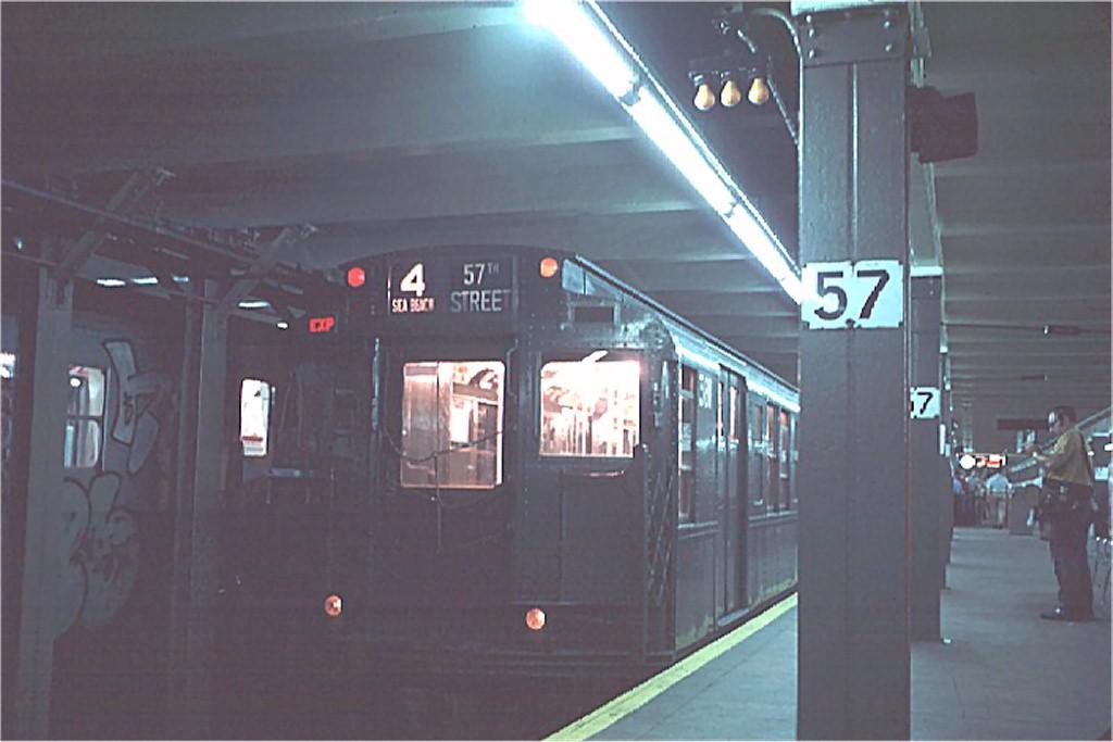 (125k, 1024x683)<br><b>Country:</b> United States<br><b>City:</b> New York<br><b>System:</b> New York City Transit<br><b>Line:</b> BMT Broadway Line<br><b>Location:</b> 57th Street <br><b>Route:</b> Fan Trip<br><b>Car:</b> R-1 (American Car & Foundry, 1930-1931) 381 <br><b>Photo by:</b> Doug Grotjahn<br><b>Collection of:</b> Joe Testagrose<br><b>Date:</b> 7/4/1976<br><b>Viewed (this week/total):</b> 0 / 4269