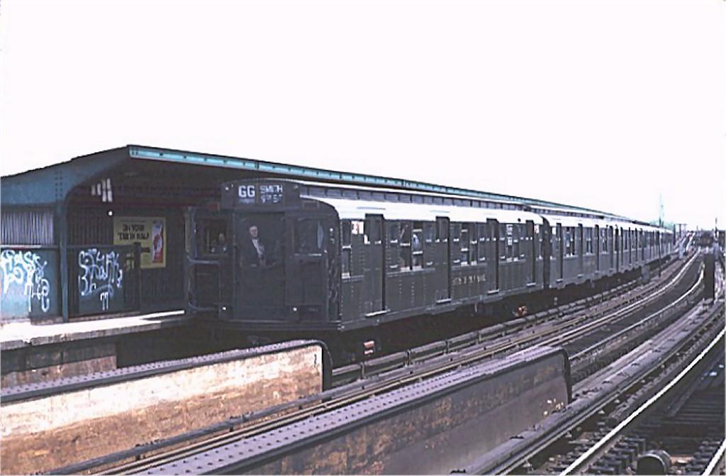 (131k, 1024x671)<br><b>Country:</b> United States<br><b>City:</b> New York<br><b>System:</b> New York City Transit<br><b>Line:</b> IND Fulton Street Line<br><b>Location:</b> Rockaway Boulevard <br><b>Route:</b> Fan Trip<br><b>Car:</b> R-1 (American Car & Foundry, 1930-1931) 381 <br><b>Photo by:</b> Joe Testagrose<br><b>Date:</b> 5/5/1974<br><b>Viewed (this week/total):</b> 0 / 3246
