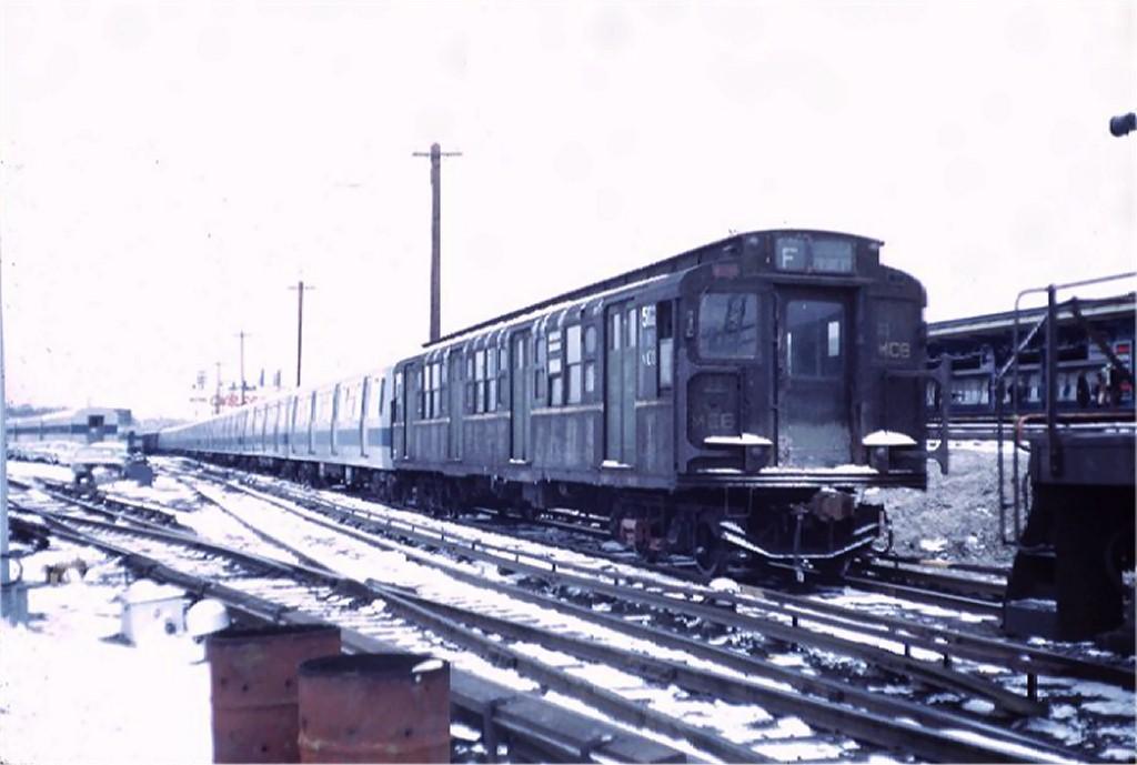(131k, 1024x689)<br><b>Country:</b> United States<br><b>City:</b> New York<br><b>System:</b> New York City Transit<br><b>Line:</b> LIRR Main Line<br><b>Location:</b> LIRR Jamaica <br><b>Car:</b> R-1 (American Car & Foundry, 1930-1931) M502 (ex-399)<br><b>Photo by:</b> Steve Zabel<br><b>Collection of:</b> Joe Testagrose<br><b>Date:</b> 2/21/1972<br><b>Viewed (this week/total):</b> 1 / 4067