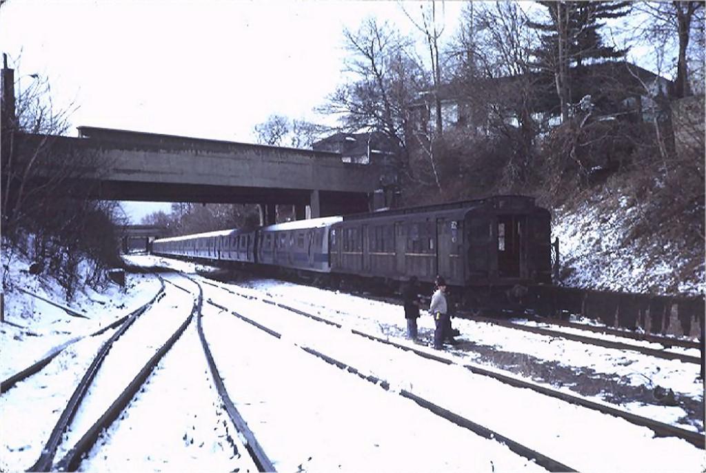(180k, 1024x686)<br><b>Country:</b> United States<br><b>City:</b> New York<br><b>System:</b> New York City Transit<br><b>Location:</b> LIRR Parkville Jct<br><b>Car:</b> R-1 (American Car & Foundry, 1930-1931) M502 (ex-399)<br><b>Photo by:</b> Steve Zabel<br><b>Collection of:</b> Joe Testagrose<br><b>Date:</b> 2/18/1972<br><b>Viewed (this week/total):</b> 0 / 3734