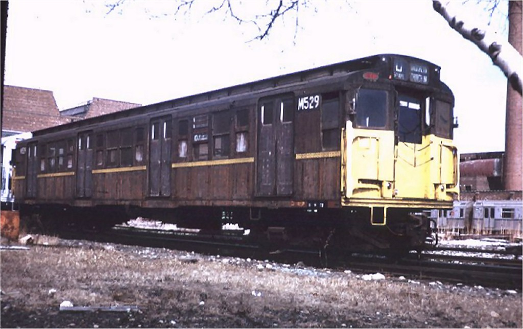 (145k, 1024x644)<br><b>Country:</b> United States<br><b>City:</b> New York<br><b>System:</b> New York City Transit<br><b>Location:</b> Coney Island Yard<br><b>Car:</b> R-1 (American Car & Foundry, 1930-1931) M529 (ex-390)<br><b>Photo by:</b> Steve Zabel<br><b>Collection of:</b> Joe Testagrose<br><b>Date:</b> 3/11/1972<br><b>Viewed (this week/total):</b> 0 / 2861