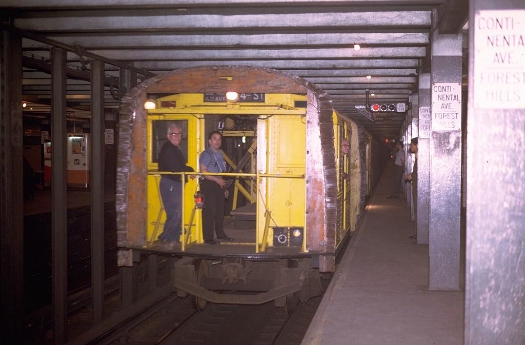 (171k, 1024x673)<br><b>Country:</b> United States<br><b>City:</b> New York<br><b>System:</b> New York City Transit<br><b>Line:</b> IND Queens Boulevard Line<br><b>Location:</b> 71st/Continental Aves./Forest Hills <br><b>Car:</b> R-1 (American Car & Foundry, 1930-1931) XC575 (ex-192)<br><b>Photo by:</b> Joe Testagrose<br><b>Date:</b> 5/13/1970<br><b>Notes:</b> 75' Test Car ex-192<br><b>Viewed (this week/total):</b> 1 / 4086