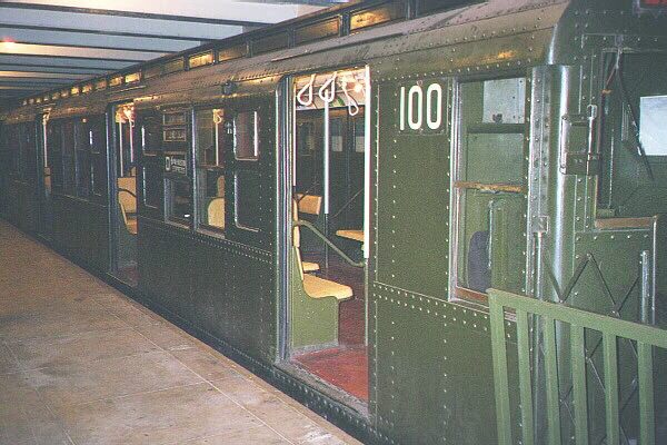 (123k, 600x400)<br><b>Country:</b> United States<br><b>City:</b> New York<br><b>System:</b> New York City Transit<br><b>Location:</b> New York Transit Museum<br><b>Car:</b> R-1 (American Car & Foundry, 1930-1931) 100 <br><b>Photo by:</b> Sidney Keyles<br><b>Date:</b> 5/23/1999<br><b>Viewed (this week/total):</b> 2 / 6794