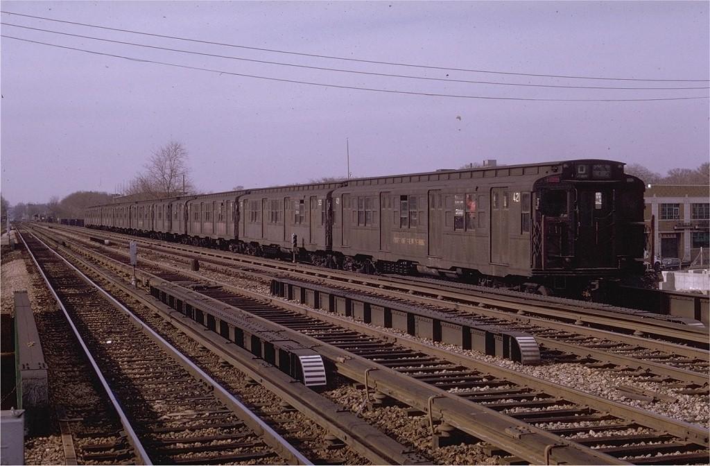 (215k, 1024x672)<br><b>Country:</b> United States<br><b>City:</b> New York<br><b>System:</b> New York City Transit<br><b>Line:</b> BMT Brighton Line<br><b>Location:</b> Neck Road <br><b>Route:</b> D<br><b>Car:</b> R-4 (American Car & Foundry, 1932-1933) 421 <br><b>Photo by:</b> Joe Testagrose<br><b>Date:</b> 4/19/1970<br><b>Viewed (this week/total):</b> 3 / 3329