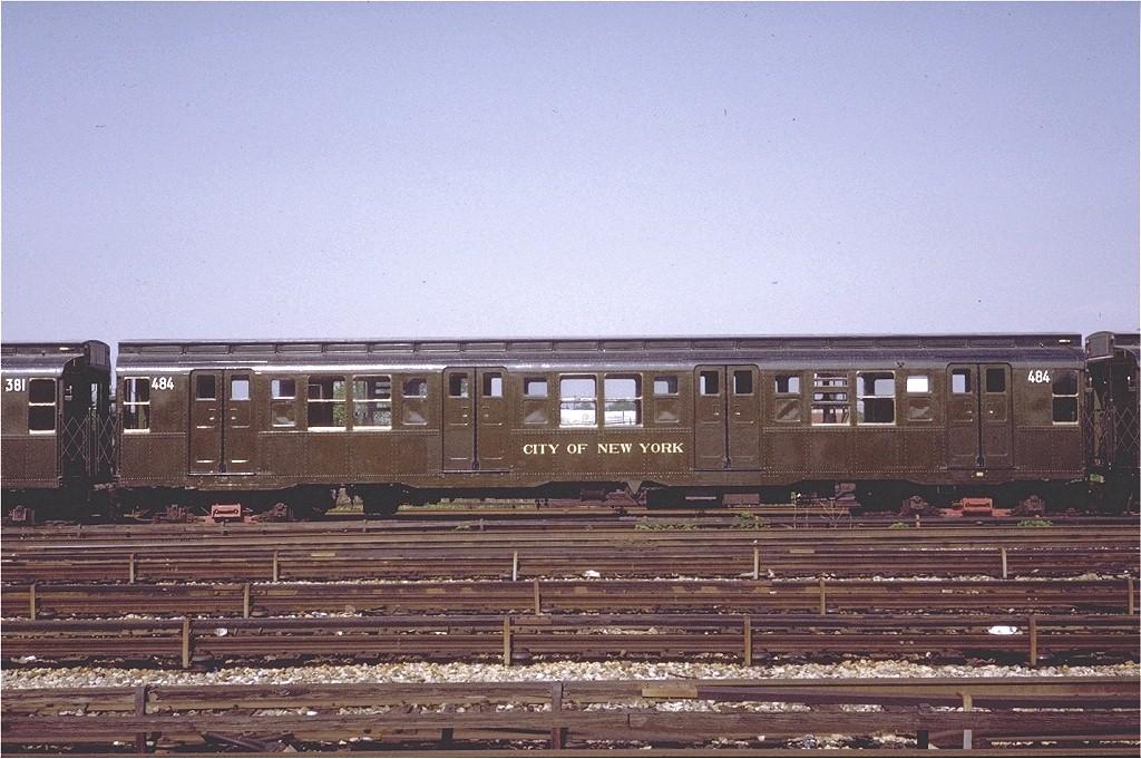 (217k, 1024x681)<br><b>Country:</b> United States<br><b>City:</b> New York<br><b>System:</b> New York City Transit<br><b>Location:</b> Coney Island Yard-Museum Yard<br><b>Car:</b> R-4 (American Car & Foundry, 1932-1933) 484 <br><b>Photo by:</b> Steve Zabel<br><b>Collection of:</b> Joe Testagrose<br><b>Date:</b> 5/25/1971<br><b>Viewed (this week/total):</b> 0 / 3135