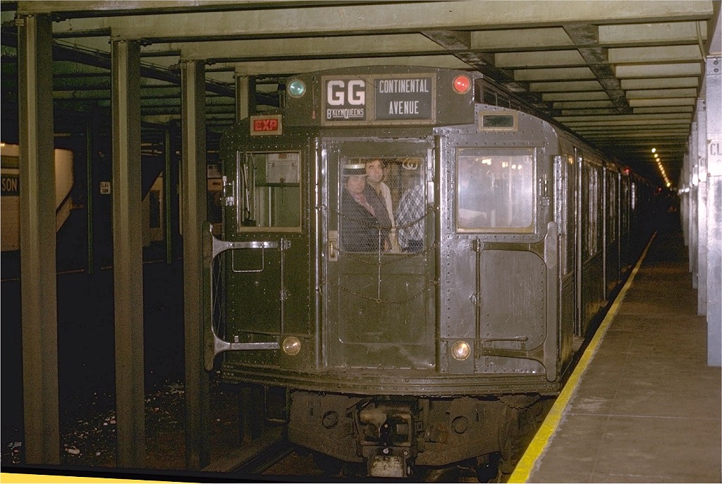 (217k, 1024x686)<br><b>Country:</b> United States<br><b>City:</b> New York<br><b>System:</b> New York City Transit<br><b>Line:</b> IND Crosstown Line<br><b>Location:</b> Classon Avenue <br><b>Route:</b> Fan Trip<br><b>Car:</b> R-4 (American Car & Foundry, 1932-1933) 484 <br><b>Photo by:</b> Joe Testagrose<br><b>Date:</b> 5/5/1974<br><b>Viewed (this week/total):</b> 1 / 6507