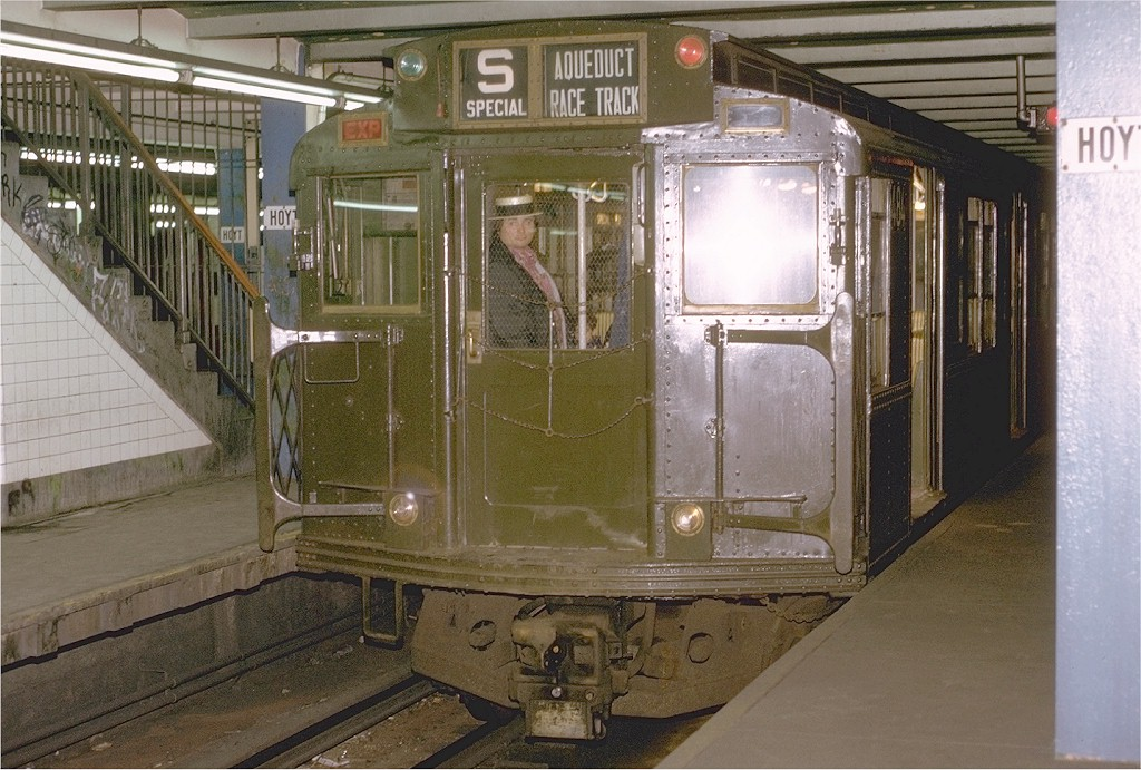 (221k, 1024x691)<br><b>Country:</b> United States<br><b>City:</b> New York<br><b>System:</b> New York City Transit<br><b>Line:</b> IND Fulton Street Line<br><b>Location:</b> Hoyt-Schermerhorn Street <br><b>Route:</b> Fan Trip<br><b>Car:</b> R-4 (American Car & Foundry, 1932-1933) 484 <br><b>Photo by:</b> Joe Testagrose<br><b>Date:</b> 5/5/1974<br><b>Viewed (this week/total):</b> 1 / 4867