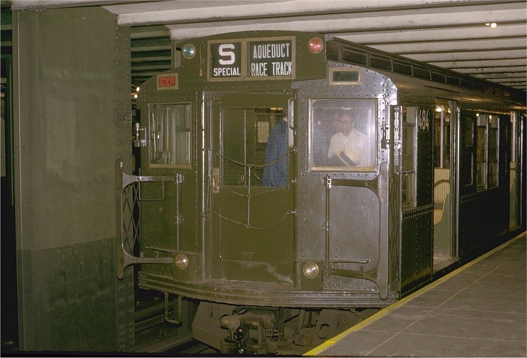 (198k, 1024x697)<br><b>Country:</b> United States<br><b>City:</b> New York<br><b>System:</b> New York City Transit<br><b>Line:</b> IND Fulton Street Line<br><b>Location:</b> Lafayette Avenue <br><b>Route:</b> Fan Trip<br><b>Car:</b> R-4 (American Car & Foundry, 1932-1933) 484 <br><b>Photo by:</b> Joe Testagrose<br><b>Date:</b> 5/5/1974<br><b>Viewed (this week/total):</b> 0 / 5525
