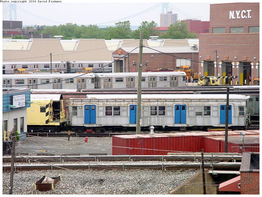 (191k, 1044x788)<br><b>Country:</b> United States<br><b>City:</b> New York<br><b>System:</b> New York City Transit<br><b>Location:</b> Coney Island Yard-Museum Yard<br><b>Car:</b> R-4 (American Car & Foundry, 1932-1933) 491 (ex-401)<br><b>Photo by:</b> David Pirmann<br><b>Date:</b> 6/18/2000<br><b>Viewed (this week/total):</b> 3 / 3745