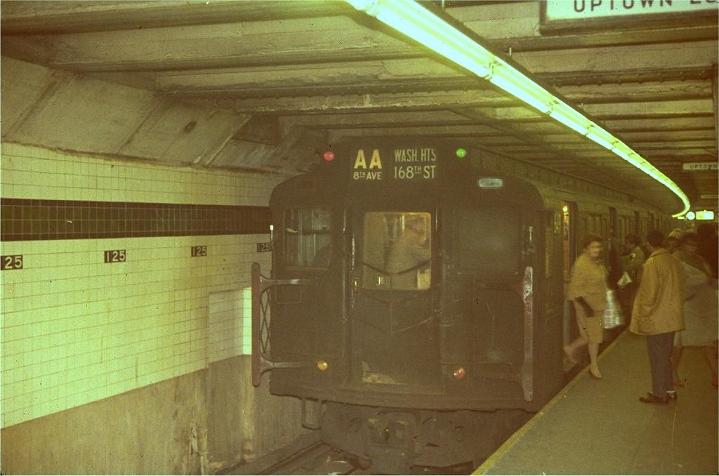(203k, 1024x678)<br><b>Country:</b> United States<br><b>City:</b> New York<br><b>System:</b> New York City Transit<br><b>Line:</b> IND 8th Avenue Line<br><b>Location:</b> 125th Street <br><b>Route:</b> AA<br><b>Car:</b> R-4 (American Car & Foundry, 1932-1933) 649 <br><b>Photo by:</b> Steve Zabel<br><b>Collection of:</b> Joe Testagrose<br><b>Viewed (this week/total):</b> 4 / 5220