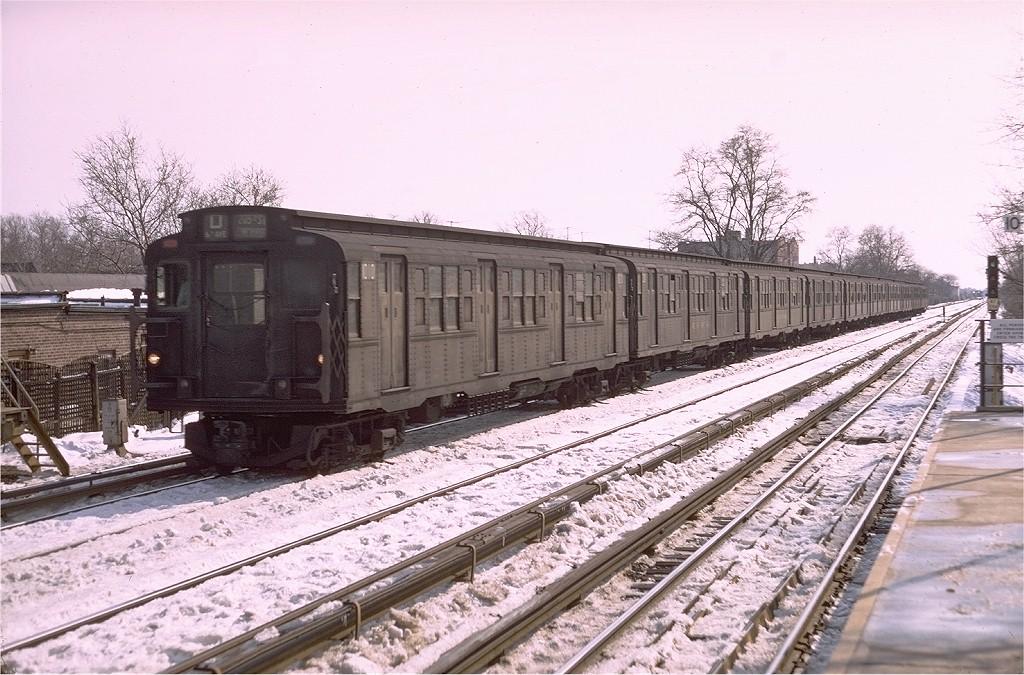 (227k, 1024x675)<br><b>Country:</b> United States<br><b>City:</b> New York<br><b>System:</b> New York City Transit<br><b>Line:</b> BMT Brighton Line<br><b>Location:</b> Avenue M <br><b>Route:</b> D<br><b>Car:</b> R-6-3 (American Car & Foundry, 1935)  1010 <br><b>Photo by:</b> Doug Grotjahn<br><b>Collection of:</b> Joe Testagrose<br><b>Date:</b> 2/13/1969<br><b>Viewed (this week/total):</b> 0 / 4437