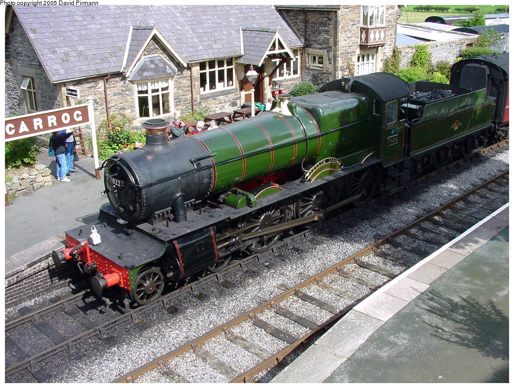 (292k, 1044x788)<br><b>Country:</b> United Kingdom<br><b>System:</b> Llangollen Railway <br><b>Location:</b> Carrog<br><b>Car:</b> Locomotive 7822 <br><b>Photo by:</b> David Pirmann<br><b>Date:</b> 9/5/2000<br><b>Viewed (this week/total):</b> 3 / 1743