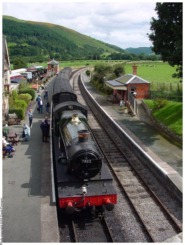 (239k, 788x1044)<br><b>Country:</b> United Kingdom<br><b>System:</b> Llangollen Railway <br><b>Location:</b> Carrog<br><b>Car:</b> Locomotive 7822 <br><b>Photo by:</b> David Pirmann<br><b>Date:</b> 9/5/2000<br><b>Viewed (this week/total):</b> 1 / 1692