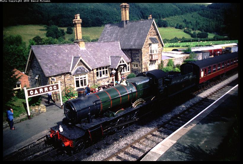 (141k, 820x553)<br><b>Country:</b> United Kingdom<br><b>System:</b> Llangollen Railway <br><b>Location:</b> Carrog<br><b>Car:</b> Locomotive 7822 <br><b>Photo by:</b> David Pirmann<br><b>Date:</b> 9/5/2000<br><b>Viewed (this week/total):</b> 0 / 1806