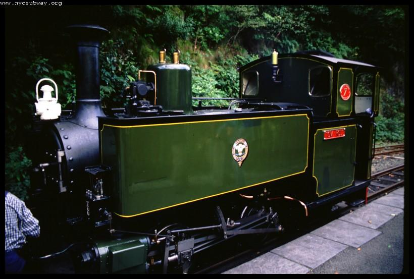 (62k, 820x553)<br><b>Country:</b> United Kingdom<br><b>System:</b> Talyllyn Railway <br><b>Photo by:</b> David Pirmann<br><b>Date:</b> 9/6/2000<br><b>Viewed (this week/total):</b> 1 / 1611