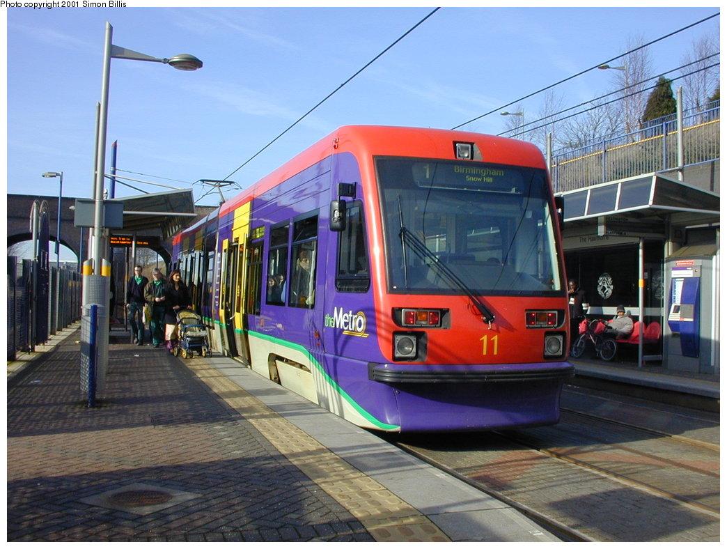 (193k, 1044x788)<br><b>Country:</b> United Kingdom<br><b>City:</b> Birmingham <br><b>System:</b> Midland Metro<br><b>Location:</b> The Hawthorns <br><b>Car:</b>  11 <br><b>Photo by:</b> Simon Billis<br><b>Date:</b> 3/29/2001<br><b>Viewed (this week/total):</b> 1 / 1238