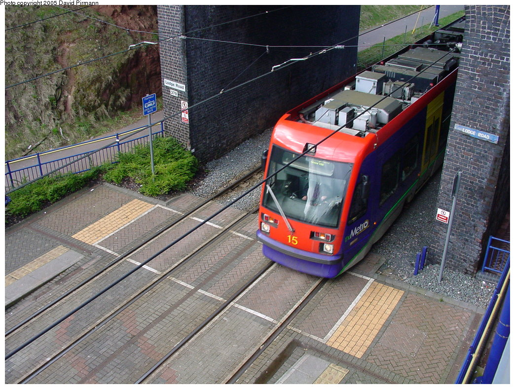 (269k, 1044x788)<br><b>Country:</b> United Kingdom<br><b>City:</b> Birmingham <br><b>System:</b> Midland Metro<br><b>Location:</b> Lodge Road/West Bromwich Town Hall <br><b>Car:</b>  15 <br><b>Photo by:</b> David Pirmann<br><b>Date:</b> 3/29/2001<br><b>Viewed (this week/total):</b> 0 / 1777