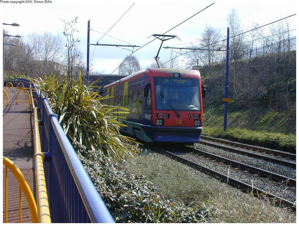 (270k, 1044x788)<br><b>Country:</b> United Kingdom<br><b>City:</b> Birmingham <br><b>System:</b> Midland Metro<br><b>Location:</b> Lodge Road/West Bromwich Town Hall <br><b>Car:</b>  14 <br><b>Photo by:</b> Simon Billis<br><b>Date:</b> 3/29/2001<br><b>Viewed (this week/total):</b> 0 / 1559