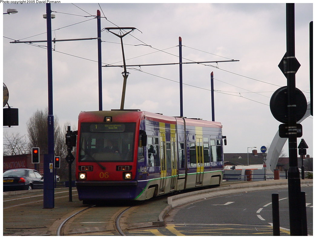 (149k, 1044x788)<br><b>Country:</b> United Kingdom<br><b>City:</b> Birmingham <br><b>System:</b> Midland Metro<br><b>Location:</b> Wolverhampton St. George's <br><b>Car:</b>  06 <br><b>Photo by:</b> David Pirmann<br><b>Date:</b> 3/29/2001<br><b>Viewed (this week/total):</b> 1 / 1329