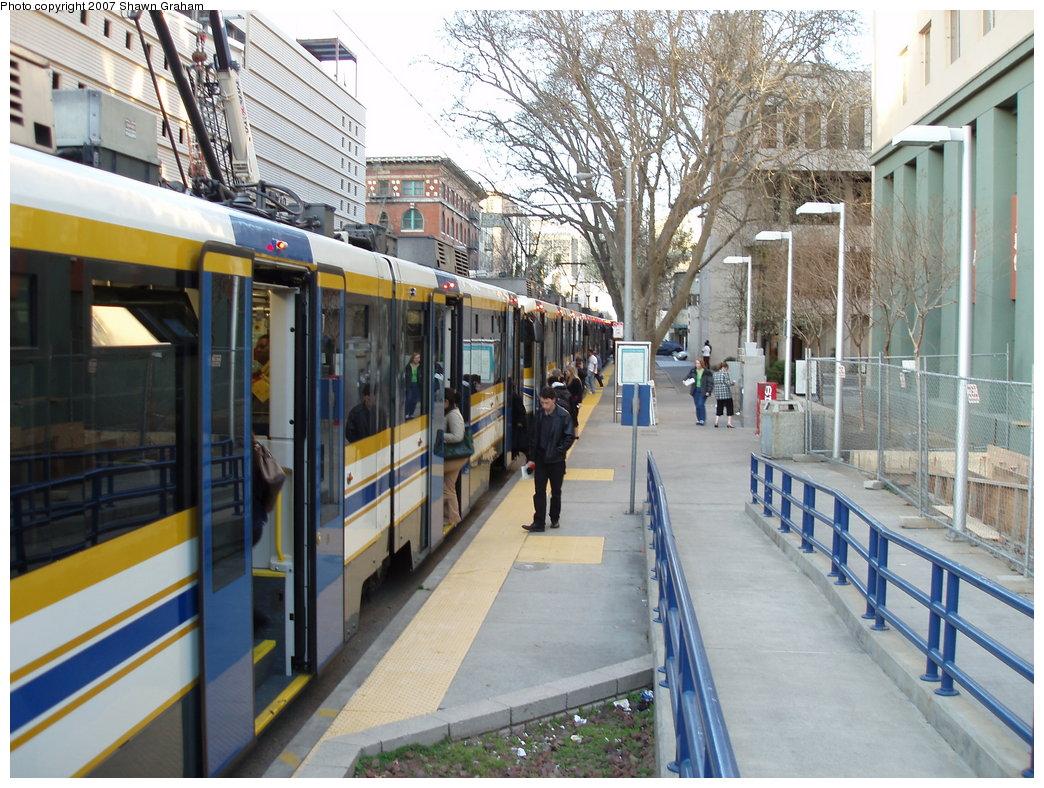 (237k, 1044x788)<br><b>Country:</b> United States<br><b>City:</b> Sacramento, CA<br><b>System:</b> SACRT Light Rail<br><b>Location:</b> 7th & Capitol <br><b>Car:</b> Sacramento CAF LRV  228 <br><b>Photo by:</b> Shawn Graham<br><b>Date:</b> 3/8/2007<br><b>Viewed (this week/total):</b> 1 / 1274