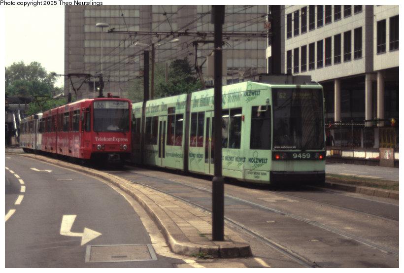(99k, 820x554)<br><b>Country:</b> Germany<br><b>City:</b> Bonn<br><b>System:</b> SWB (Stadtwerke Bonn)<br><b>Location:</b> Oxford Strasse <br><b>Route:</b> 66<br><b>Car:</b> Bonn Tram 9364 <br><b>Photo by:</b> Theo Neutelings<br><b>Date:</b> 5/14/2001<br><b>Viewed (this week/total):</b> 0 / 1020