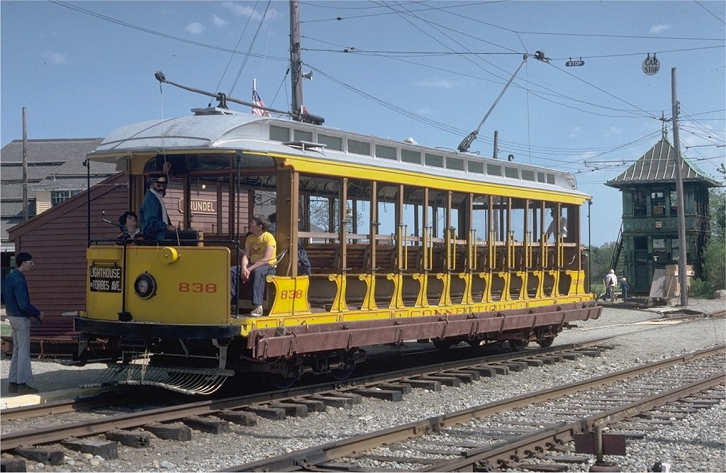 (234k, 1024x667)<br><b>Country:</b> United States<br><b>City:</b> Kennebunk, ME<br><b>System:</b> Seashore Trolley Museum <br><b>Car:</b> Connecticut Company 838 <br><b>Photo by:</b> Doug Grotjahn<br><b>Collection of:</b> Joe Testagrose<br><b>Date:</b> 5/25/1980<br><b>Viewed (this week/total):</b> 1 / 1307