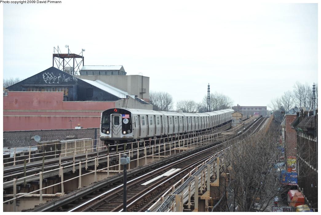 (249k, 1044x701)<br><b>Country:</b> United States<br><b>City:</b> New York<br><b>System:</b> New York City Transit<br><b>Line:</b> BMT Nassau Street/Jamaica Line<br><b>Location:</b> Woodhaven Boulevard <br><b>Route:</b> J<br><b>Car:</b> R-160A-1 (Alstom, 2005-2008, 4 car sets)  8621 <br><b>Photo by:</b> David Pirmann<br><b>Date:</b> 4/10/2009<br><b>Viewed (this week/total):</b> 1 / 1399