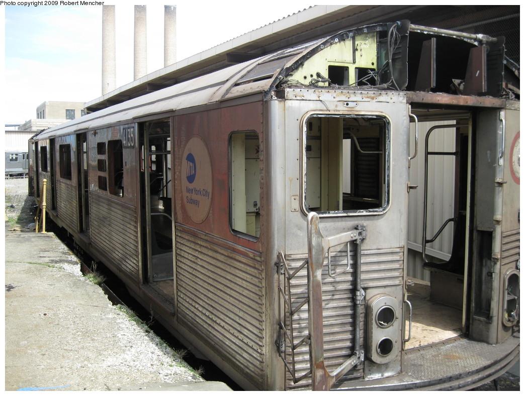(255k, 1044x788)<br><b>Country:</b> United States<br><b>City:</b> New York<br><b>System:</b> New York City Transit<br><b>Location:</b> 207th Street Yard<br><b>Car:</b> R-38 (St. Louis, 1966-1967)  4135 <br><b>Photo by:</b> Robert Mencher<br><b>Date:</b> 4/18/2009<br><b>Notes:</b> Scrap<br><b>Viewed (this week/total):</b> 0 / 1323