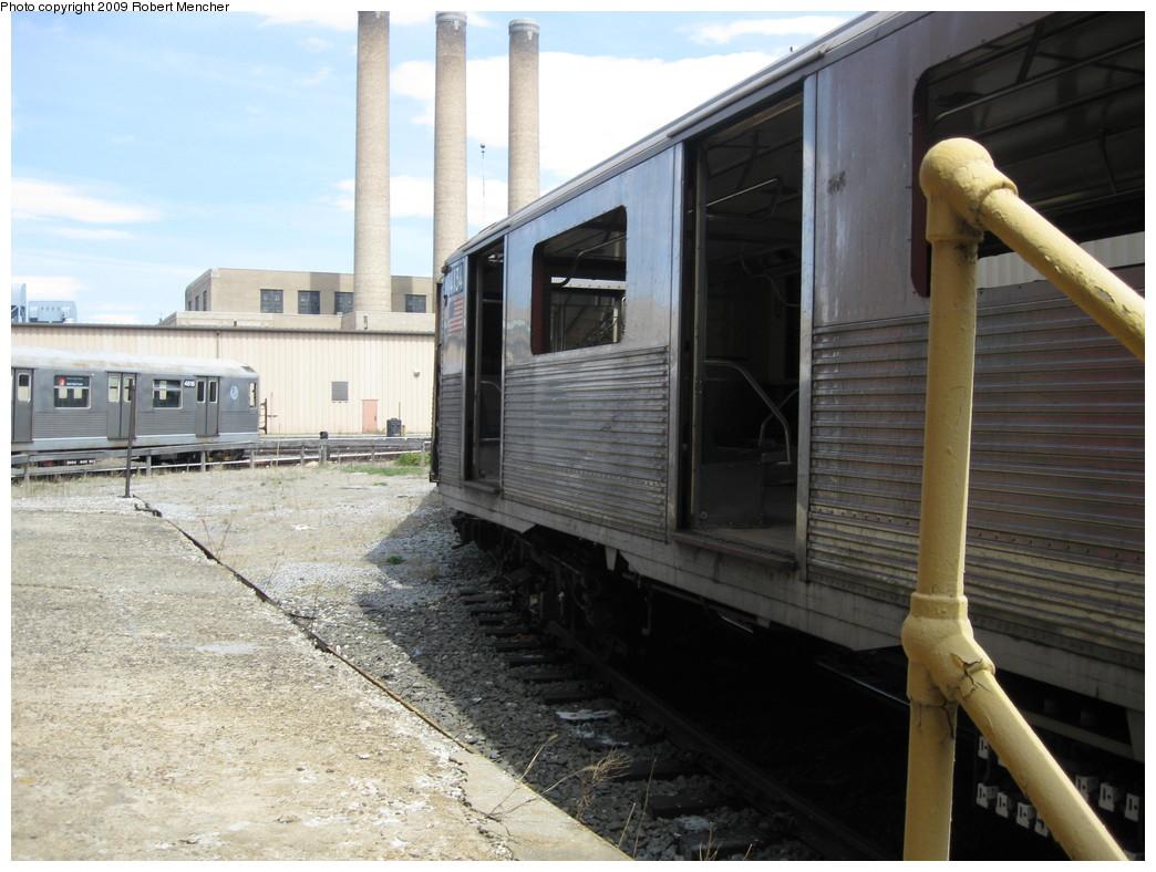 (218k, 1044x788)<br><b>Country:</b> United States<br><b>City:</b> New York<br><b>System:</b> New York City Transit<br><b>Location:</b> 207th Street Yard<br><b>Car:</b> R-38 (St. Louis, 1966-1967)  4134 <br><b>Photo by:</b> Robert Mencher<br><b>Date:</b> 4/18/2009<br><b>Notes:</b> Scrap<br><b>Viewed (this week/total):</b> 0 / 743