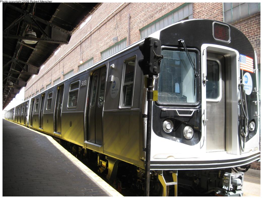 (253k, 1044x788)<br><b>Country:</b> United States<br><b>City:</b> New York<br><b>System:</b> New York City Transit<br><b>Location:</b> 207th Street Yard<br><b>Car:</b> R-160A (Option 1) (Alstom, 2008-2009, 5 car sets)  9418 <br><b>Photo by:</b> Robert Mencher<br><b>Date:</b> 4/18/2009<br><b>Viewed (this week/total):</b> 0 / 1059