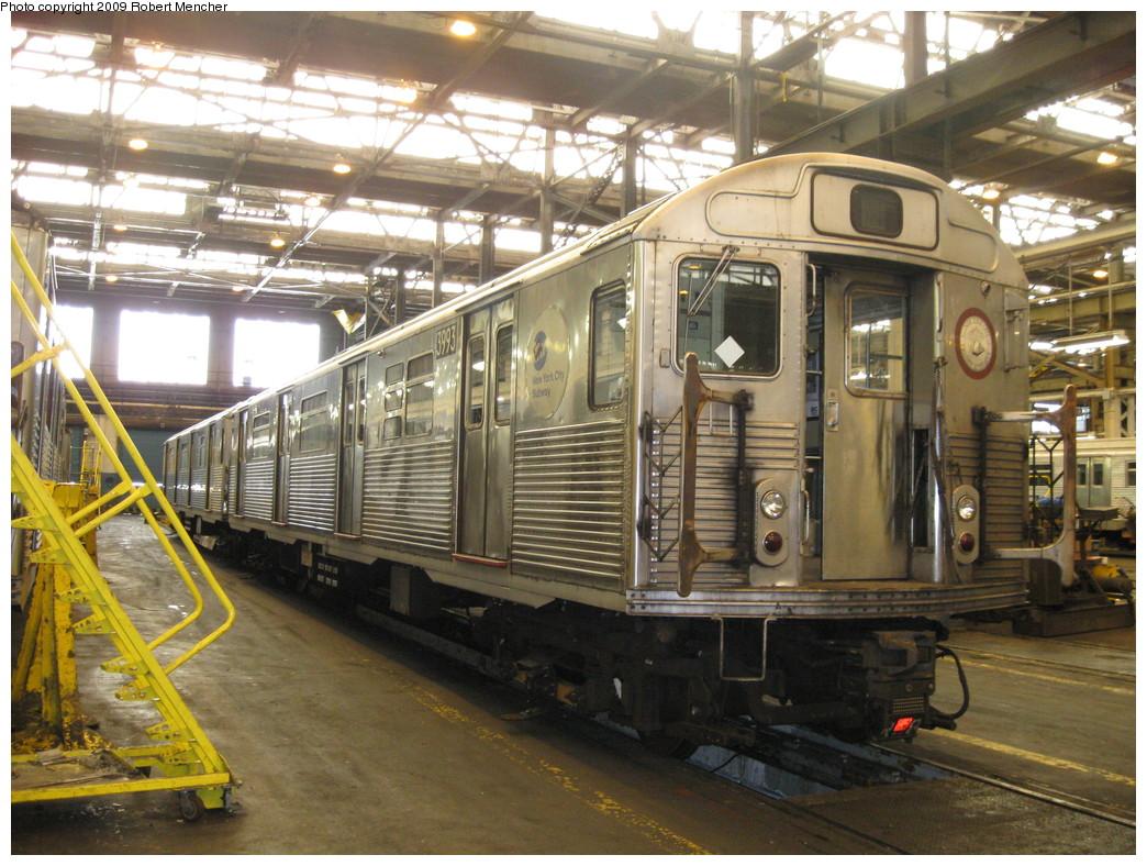 (268k, 1044x788)<br><b>Country:</b> United States<br><b>City:</b> New York<br><b>System:</b> New York City Transit<br><b>Location:</b> 207th Street Shop<br><b>Car:</b> R-38 (St. Louis, 1966-1967)  3993 <br><b>Photo by:</b> Robert Mencher<br><b>Date:</b> 4/18/2009<br><b>Viewed (this week/total):</b> 0 / 833