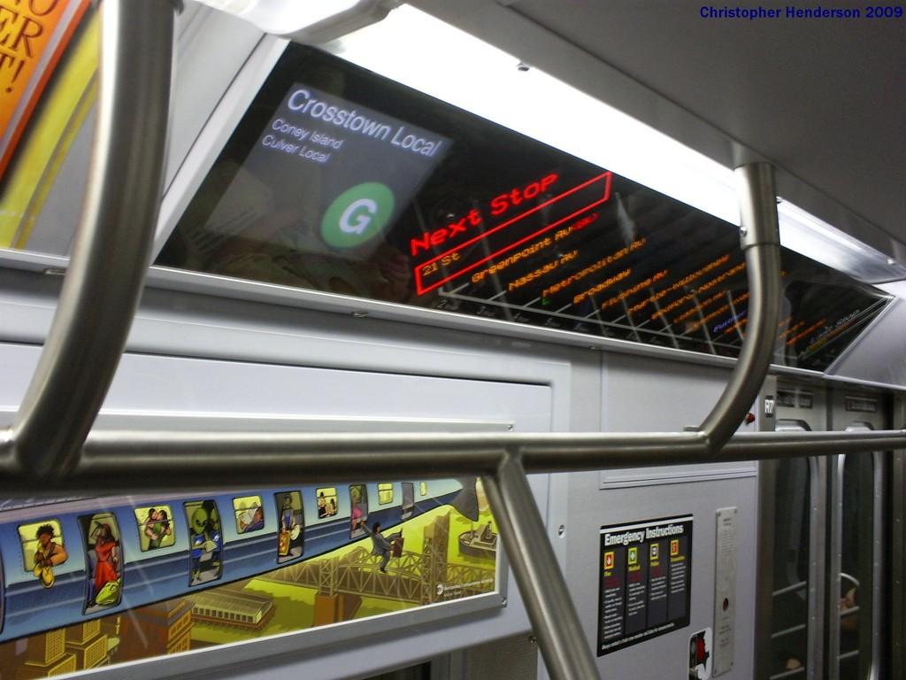 (169k, 1024x768)<br><b>Country:</b> United States<br><b>City:</b> New York<br><b>System:</b> New York City Transit<br><b>Route:</b> G<br><b>Car:</b> R-160B (Option 1) (Kawasaki, 2008-2009)  9182 <br><b>Photo by:</b> Christopher Henderson<br><b>Date:</b> 4/18/2009<br><b>Viewed (this week/total):</b> 0 / 1881