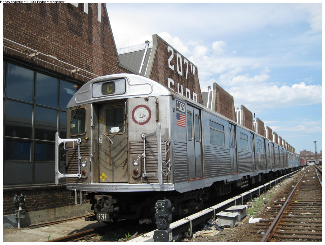 (251k, 1044x788)<br><b>Country:</b> United States<br><b>City:</b> New York<br><b>System:</b> New York City Transit<br><b>Location:</b> 207th Street Yard<br><b>Car:</b> R-38 (St. Louis, 1966-1967)  4028 <br><b>Photo by:</b> Robert Mencher<br><b>Date:</b> 4/18/2009<br><b>Viewed (this week/total):</b> 7 / 2950