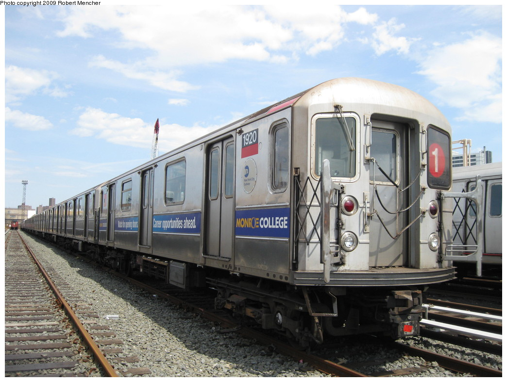 (224k, 1044x788)<br><b>Country:</b> United States<br><b>City:</b> New York<br><b>System:</b> New York City Transit<br><b>Location:</b> 207th Street Yard<br><b>Car:</b> R-62A (Bombardier, 1984-1987)  1920 <br><b>Photo by:</b> Robert Mencher<br><b>Date:</b> 4/18/2009<br><b>Viewed (this week/total):</b> 1 / 1014
