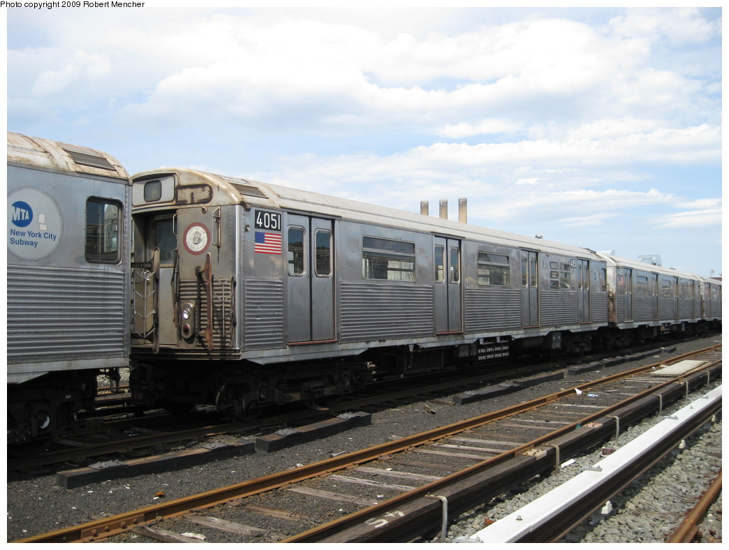 (216k, 1044x788)<br><b>Country:</b> United States<br><b>City:</b> New York<br><b>System:</b> New York City Transit<br><b>Location:</b> 207th Street Yard<br><b>Car:</b> R-38 (St. Louis, 1966-1967)  4051 <br><b>Photo by:</b> Robert Mencher<br><b>Date:</b> 4/18/2009<br><b>Viewed (this week/total):</b> 2 / 809