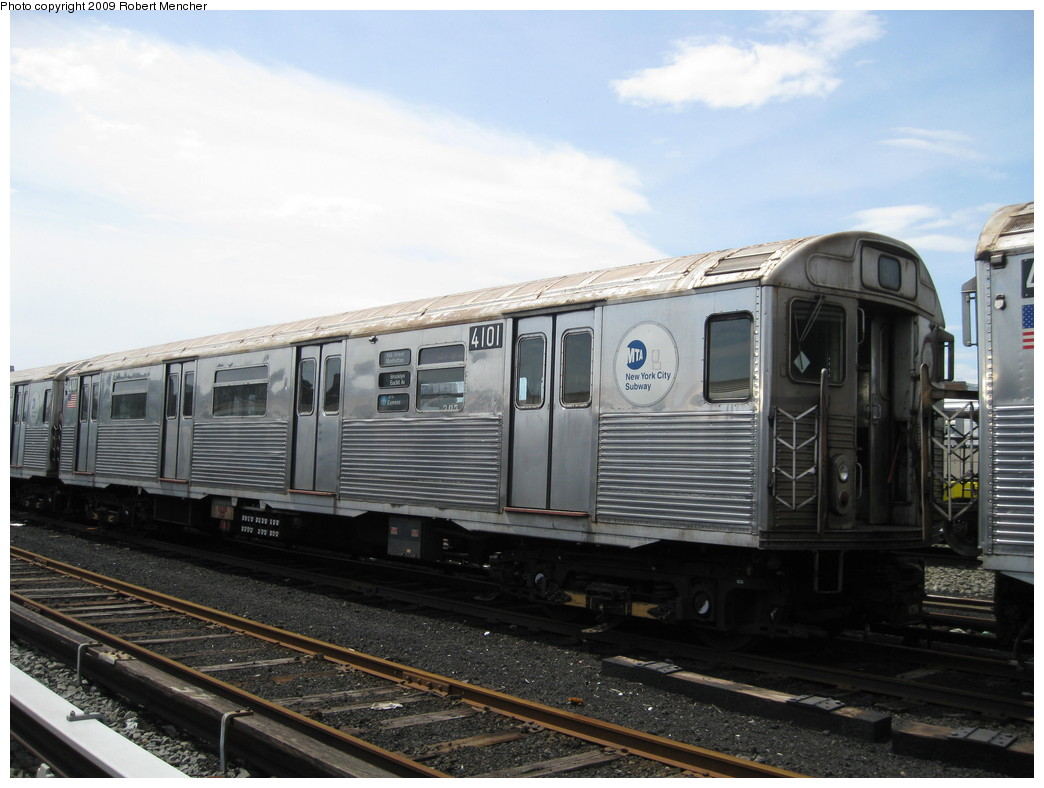 (194k, 1044x788)<br><b>Country:</b> United States<br><b>City:</b> New York<br><b>System:</b> New York City Transit<br><b>Location:</b> 207th Street Yard<br><b>Car:</b> R-38 (St. Louis, 1966-1967)  4101 <br><b>Photo by:</b> Robert Mencher<br><b>Date:</b> 4/18/2009<br><b>Viewed (this week/total):</b> 1 / 853