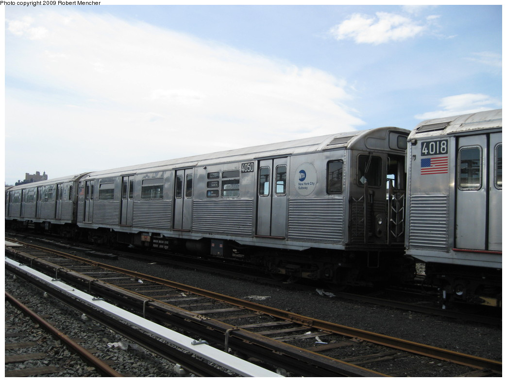 (182k, 1044x788)<br><b>Country:</b> United States<br><b>City:</b> New York<br><b>System:</b> New York City Transit<br><b>Location:</b> 207th Street Yard<br><b>Car:</b> R-38 (St. Louis, 1966-1967)  4050 <br><b>Photo by:</b> Robert Mencher<br><b>Date:</b> 4/18/2009<br><b>Viewed (this week/total):</b> 0 / 727