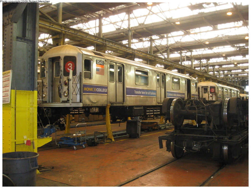 (259k, 1044x788)<br><b>Country:</b> United States<br><b>City:</b> New York<br><b>System:</b> New York City Transit<br><b>Location:</b> 207th Street Shop<br><b>Car:</b> R-62 (Kawasaki, 1983-1985)  1541 <br><b>Photo by:</b> Robert Mencher<br><b>Date:</b> 4/18/2009<br><b>Viewed (this week/total):</b> 0 / 859