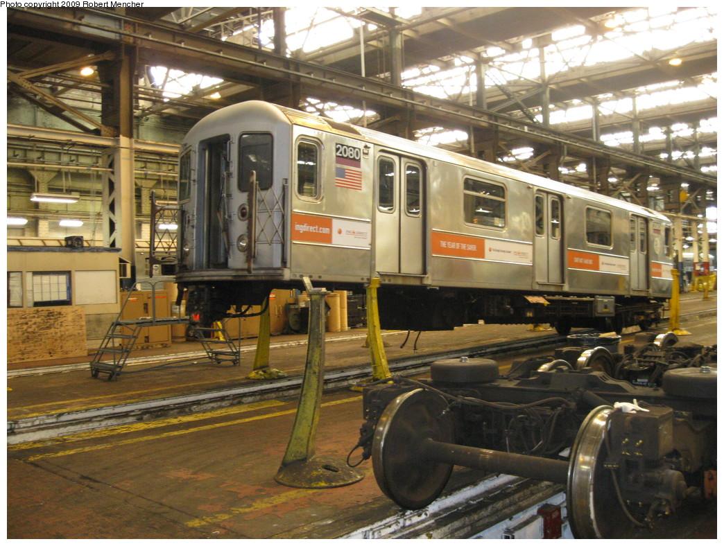 (271k, 1044x788)<br><b>Country:</b> United States<br><b>City:</b> New York<br><b>System:</b> New York City Transit<br><b>Location:</b> 207th Street Shop<br><b>Car:</b> R-62A (Bombardier, 1984-1987)  2080 <br><b>Photo by:</b> Robert Mencher<br><b>Date:</b> 4/18/2009<br><b>Viewed (this week/total):</b> 0 / 985