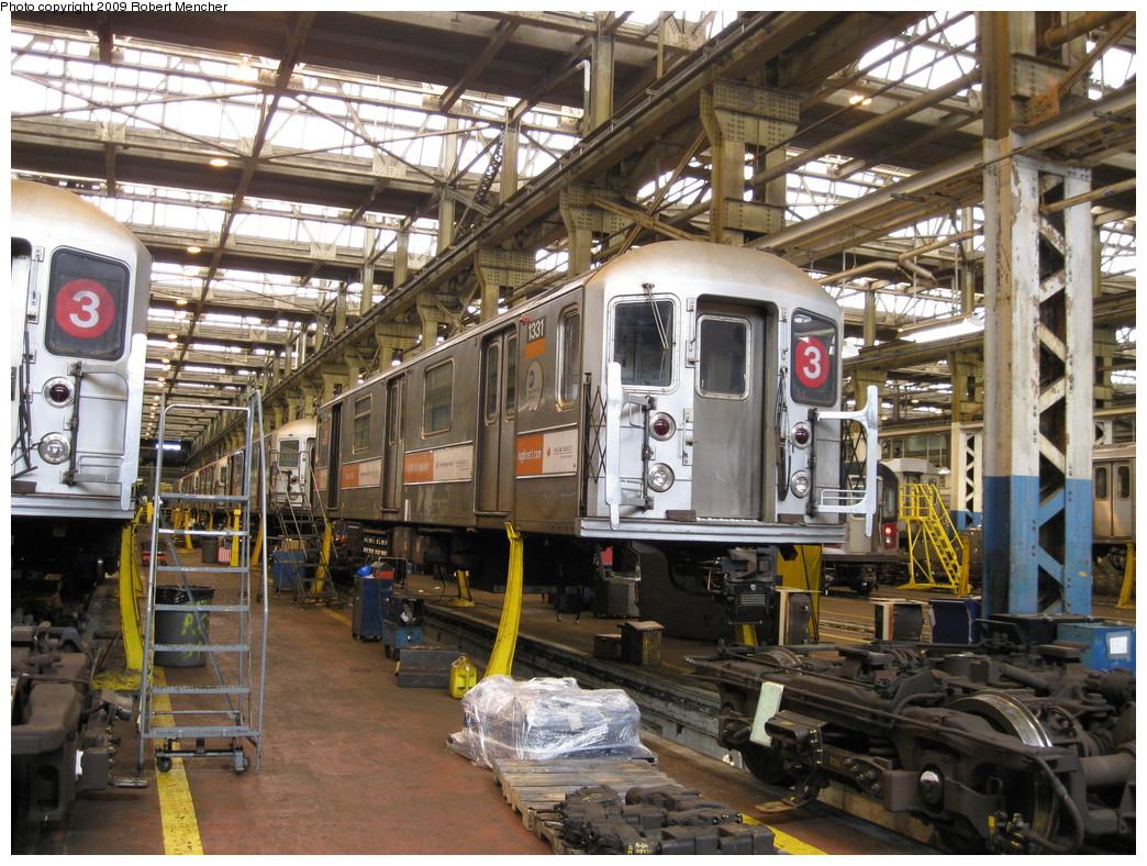 (307k, 1044x788)<br><b>Country:</b> United States<br><b>City:</b> New York<br><b>System:</b> New York City Transit<br><b>Location:</b> 207th Street Shop<br><b>Car:</b> R-62 (Kawasaki, 1983-1985)  1331 <br><b>Photo by:</b> Robert Mencher<br><b>Date:</b> 4/18/2009<br><b>Viewed (this week/total):</b> 0 / 1259