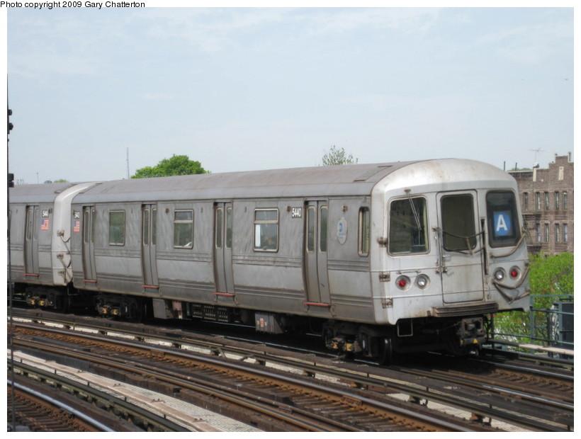 (114k, 820x620)<br><b>Country:</b> United States<br><b>City:</b> New York<br><b>System:</b> New York City Transit<br><b>Line:</b> IND Fulton Street Line<br><b>Location:</b> 80th Street/Hudson Street <br><b>Route:</b> A<br><b>Car:</b> R-44 (St. Louis, 1971-73) 5440 <br><b>Photo by:</b> Gary Chatterton<br><b>Date:</b> 4/29/2009<br><b>Viewed (this week/total):</b> 0 / 991