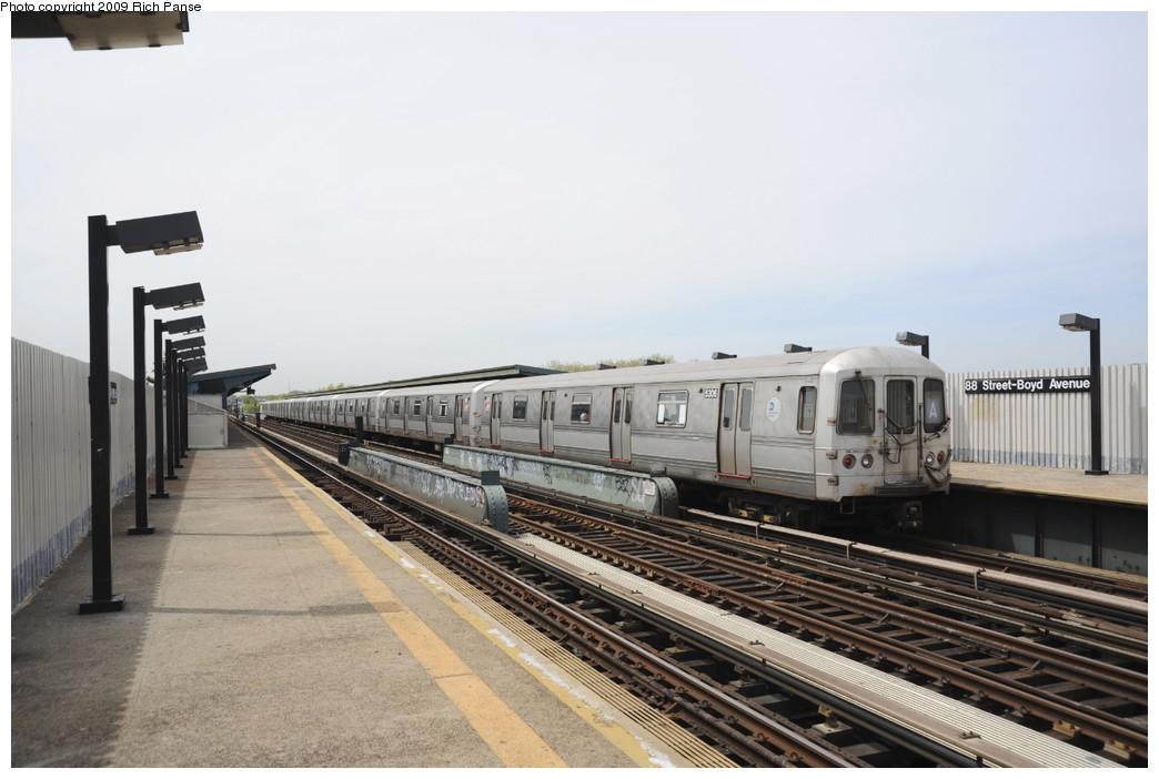 (157k, 1044x702)<br><b>Country:</b> United States<br><b>City:</b> New York<br><b>System:</b> New York City Transit<br><b>Line:</b> IND Fulton Street Line<br><b>Location:</b> 80th Street/Hudson Street <br><b>Route:</b> A<br><b>Car:</b> R-44 (St. Louis, 1971-73) 5306 <br><b>Photo by:</b> Richard Panse<br><b>Date:</b> 4/29/2009<br><b>Viewed (this week/total):</b> 0 / 973